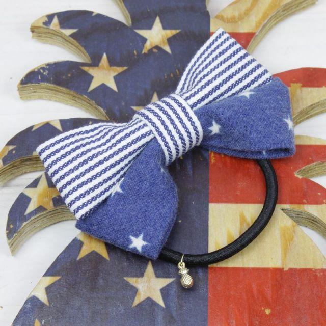ヘアゴム/ヘアアクセサリー/かわいい/アメリカ/星条旗/カリフォルニア/ビーチ/アクセサリー/パームシーズン/ 沖縄/通販