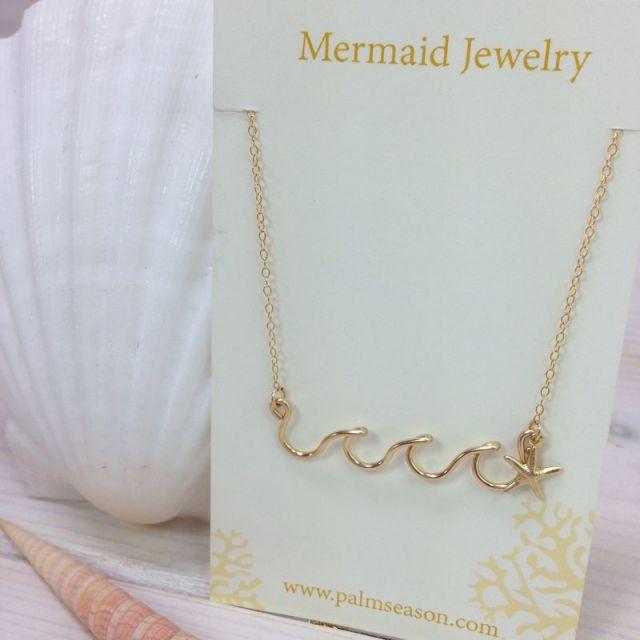 MermaidJewelry/マーメイドジュエリー /ビーチ/リゾートファッション/アクセサリー/パームシーズン/沖縄/通販/ウエーブ/ネックレス