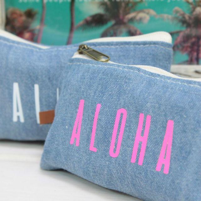 デニム/ポーチ/ALOHA/アロハ/インディゴ/ビーチ/ファッション/専門店/沖縄/パームシーズン/通販