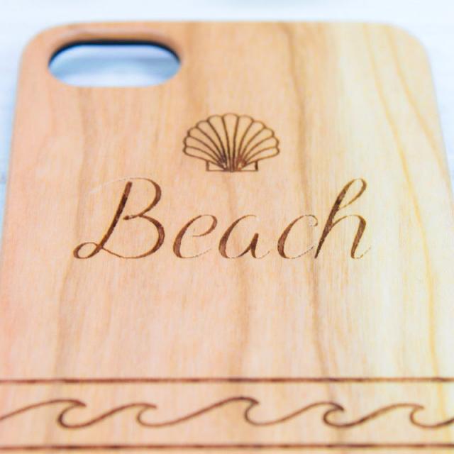 ウッド/木製/iPhoneケース/Beach/ビーチ/シェル/ネイティブ/スマホケース/ビーチガール/サーフガール/沖縄/通販/パームシーズン