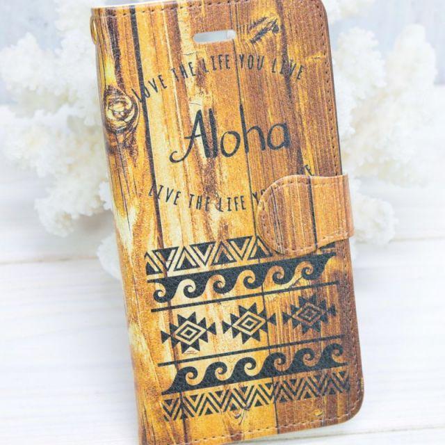 手帳型/全機種/ウッド/木製/iPhoneケース/aloha/アロハ/ネイティブ/スマホケース/ビーチガール/沖縄/通販/パームシーズン