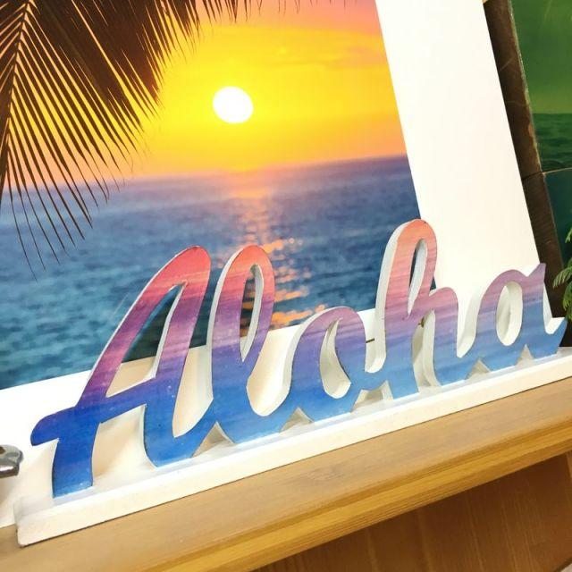 ALOHA,サインボード,グラデーション,アロハ,ビーチインテリア,ビーチハウス,海を感じるインテリア,ビーチ,マリン,インテリア,雑貨,通販
