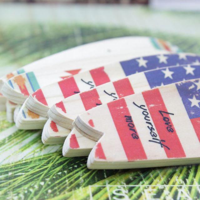 seashoreinc/キーホルダー /サーフボード/ウッド/SURF/USA/星条旗/ビーチ/リゾート/マリン/ファッション/パームシーズン/ 沖縄/通販