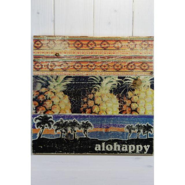 ビーチ/マリン/ファッション/パームシーズン/ 沖縄/通販 /seashoreinc/ハンドメイド/ウッドパネル/ALOHAPPY