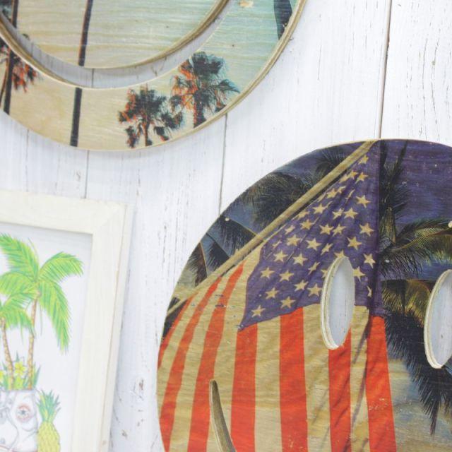 スマイル/ヤシの木/シーショアインク/ビーチハウス/インテリア/雑貨/パームシーズン/ 沖縄/通販 /seashoreinc/ハンドメイド/木製オブジェ