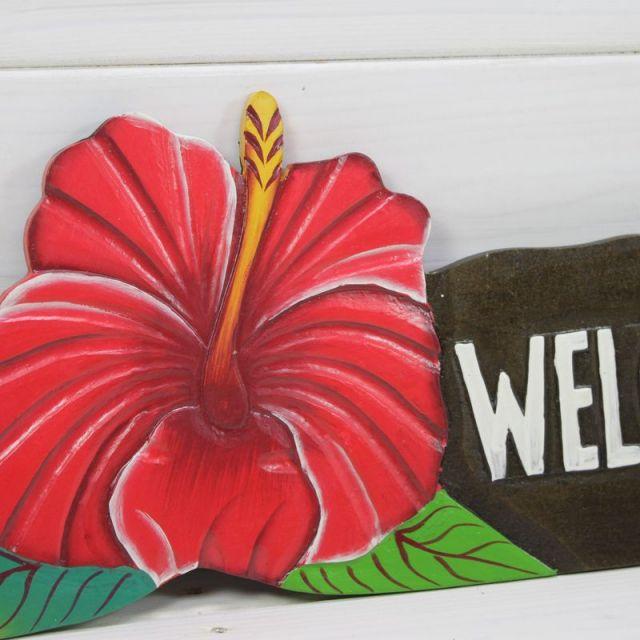 ビーチハウス/ハイビスカス/WELCOME/ビーチ/マリン/雑貨/パームシーズン/ 沖縄/通販 /ハワイ/インテリア/アロハ/ハワイアン雑貨