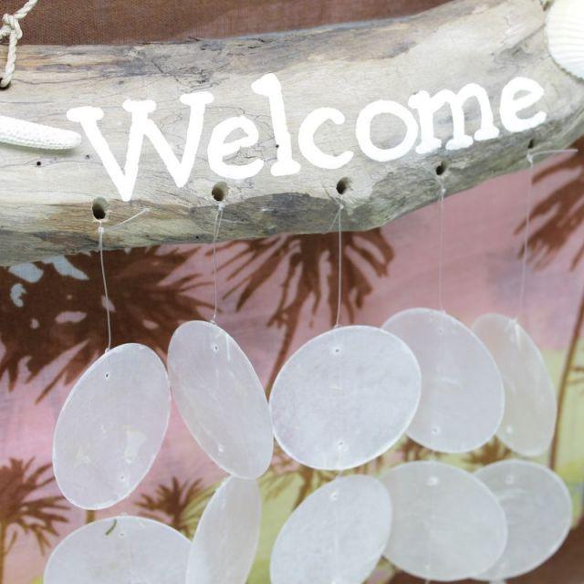 ビーチハウス/流木/WELCOME/ビーチ/マリン/雑貨/パームシーズン/ 沖縄/通販 /ハワイ/インテリア/風鈴/ハワイアン雑貨