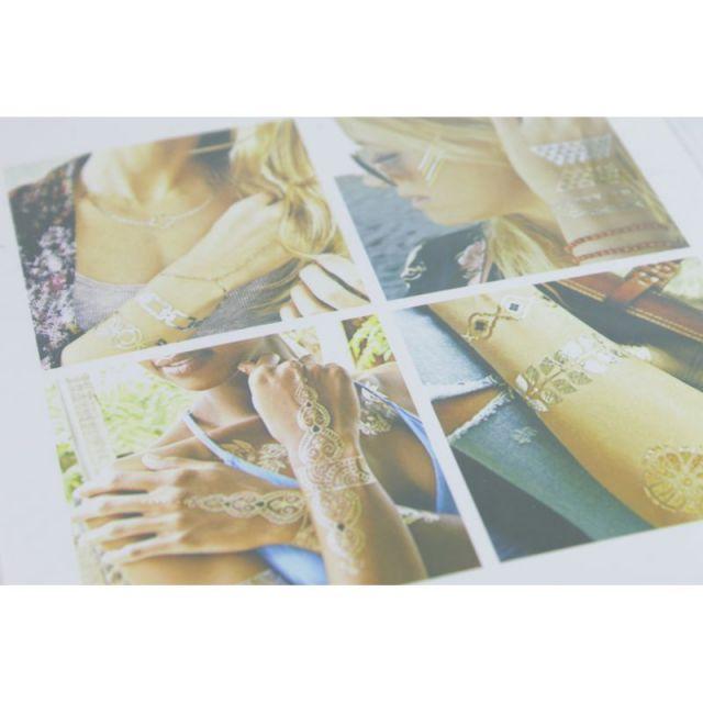 ビーチ/マリン/ファッション/パームシーズン/ 沖縄/通販 /シャイニングタトゥー/ShiningTattoo /METAL TATTOO STICKERS/タトゥーシール