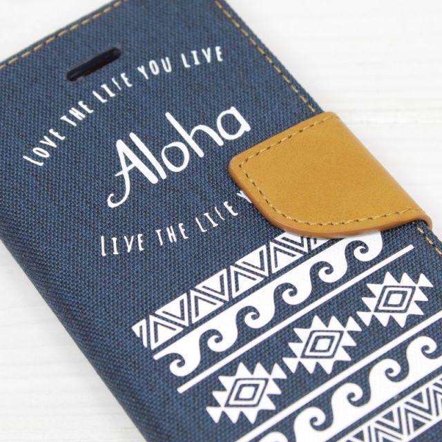 手帳型/iPhoneケース/ネイティブ柄/ALOHA/WAVE/波/ハワイ/ビーチ/ビーチガール/スマホケース/PalmSeason/沖縄/通販