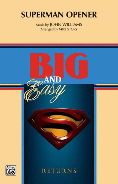 【マーチング 楽譜】「スーパーマン」オープナー(同名映画より)