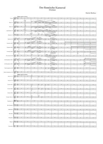【吹奏楽 楽譜】ローマの謝肉祭