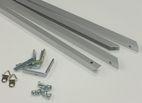 「内径5mmアルミフレームシルバー部品セットA1」発注数量10セット以上100セット未満
