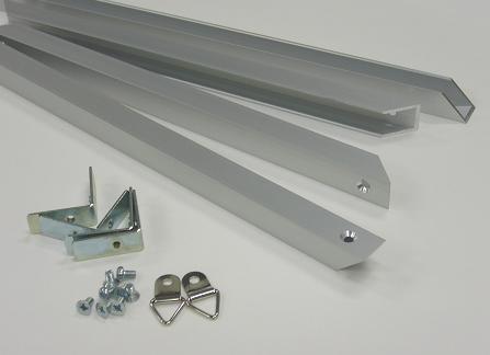 「内径10mmアルミフレームシルバー部品セットB1」発注数量10セット以上100セット未満