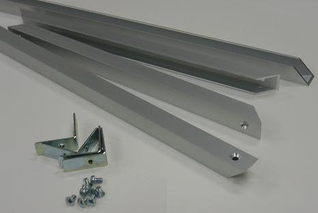 AKアルミフレームシルバー部品セットB0 10セット以上 補強2本付