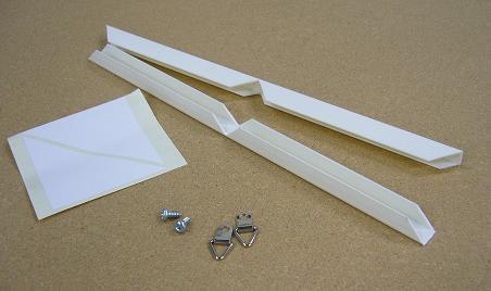「ビニールフレーム7の字ホワイトB1 部品付 7mmボード用」   発注数量10セット以上