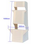 大型紙スタンド7(B1サイズ以上対応)【1枚入り】