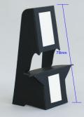 ブラック紙スタンドBM12(はがきサイズ対応)【10枚入り】