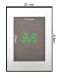 フォトフレームSP-A【A3】(フレーム:ブラック/マット:ホワイト)