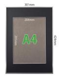 フォトフレームSP-A【A3】(フレーム:シルバー/マット:ブラック)