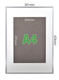 フォトフレームSP-A【A3】(フレーム:シルバー/マット:ホワイト)