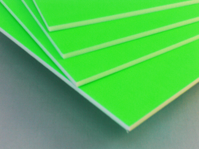 カラーボード(蛍光グリーン)