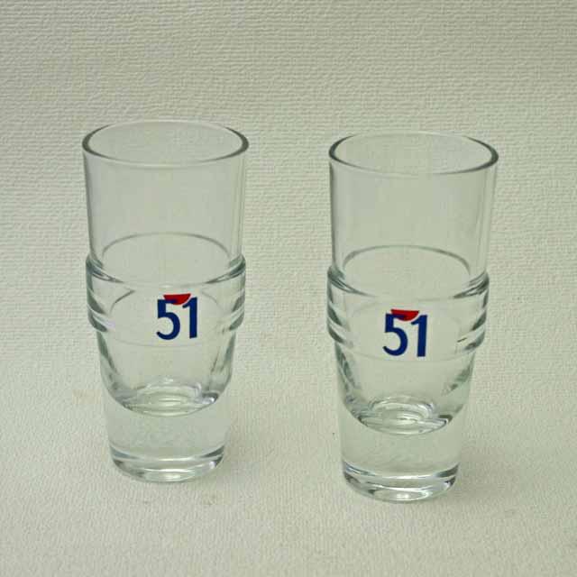 """""""PASTIS 51""""パスティス51 グラス (レッド帯付き)"""