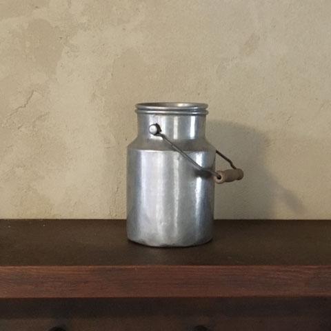 フランス ブロカント アルミ製 ミルク缶(ミニ)