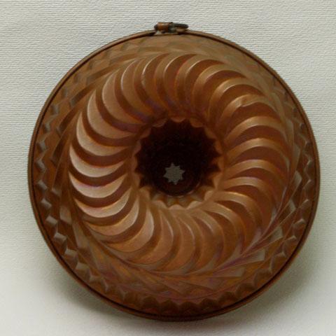 フランス ブロカント 銅製モールド (大型クグロフ)