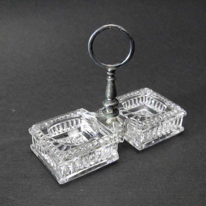 フランスブロカント ガラス調味料入れ(1940年代)