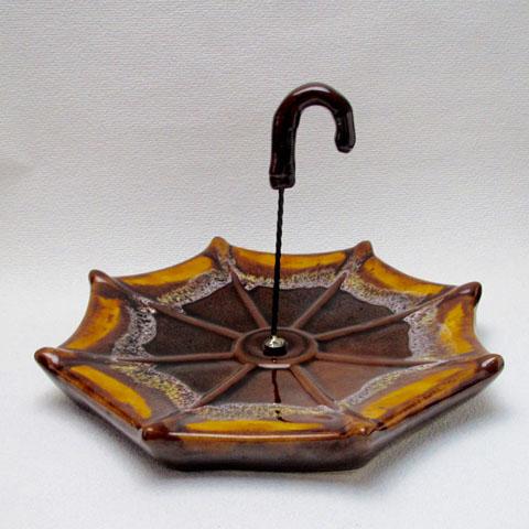 フランスブロカント 傘形チーズプレート (バロリス窯)