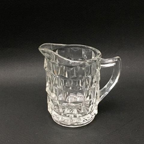 フランスブロカント  ガラス ミルクポット