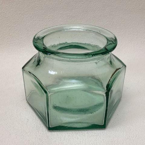 フランス ブロカント ガラス 広口瓶