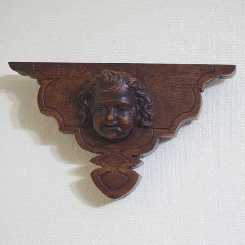 フランス ブロカント 「天使」木彫り