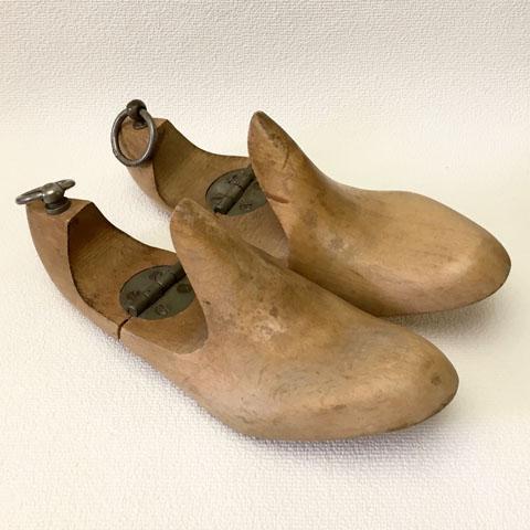 フランス ブロカント 靴 木型