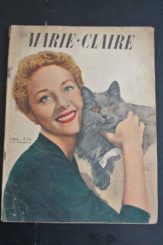 """ビンテージ雑誌 """"MARIE-CLAIRE""""マリークレール(1939年)"""