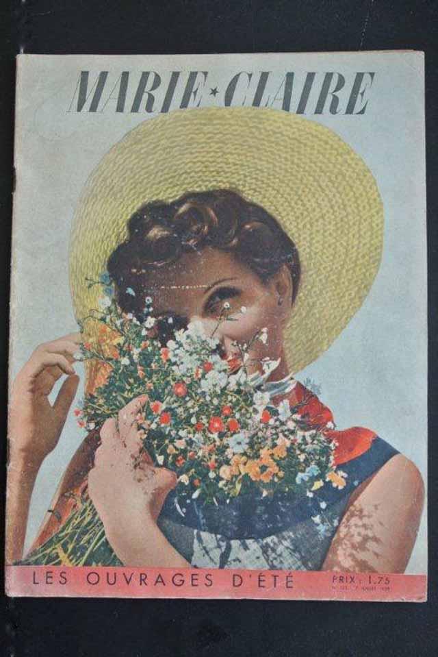 """ビンテージ雑誌 """"MARIE-CLAIRE""""マリークレール(1938年)"""
