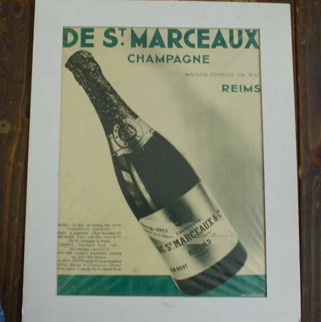 """フランス ブロカント """"DE St. MARCEAUX"""" ポスター"""
