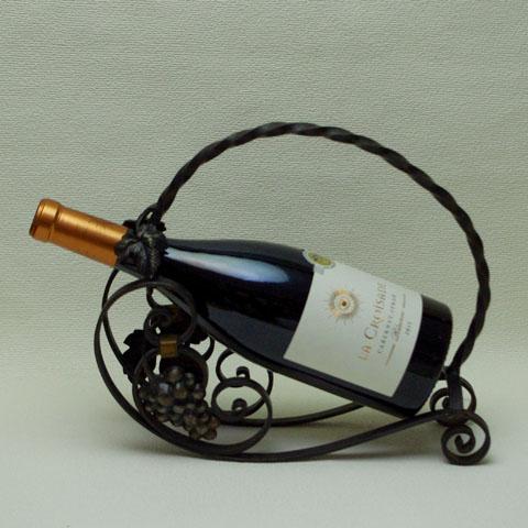 フランスブロカント  ワイン ホルダー (アイアン細工)