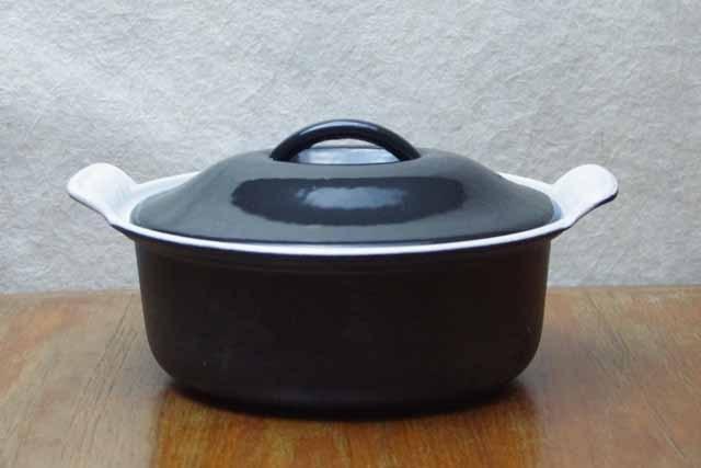 ヴィンテージ ルクルーゼ鍋 キャセロール・オーバル(20cm)ブラック