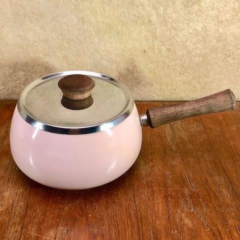 フランスブロカント ホウロウ片手鍋