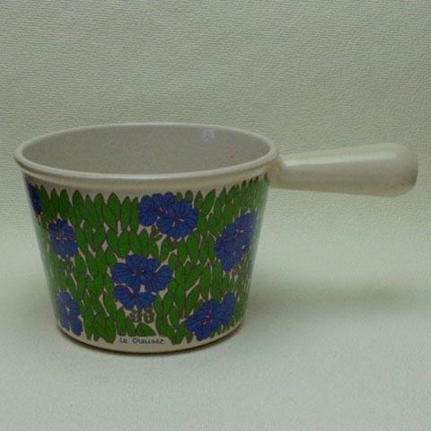 ヴィンテージ ルクルーゼ鍋 ウィンザー(青い花)1960年代