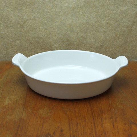 ヴィンテージ ルクルーゼ グラタン皿(22cm) ホワイト