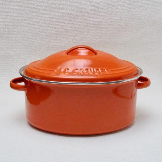 ヴィンテージ・ルクルーゼ  オーバル スチール鍋 (24cm)