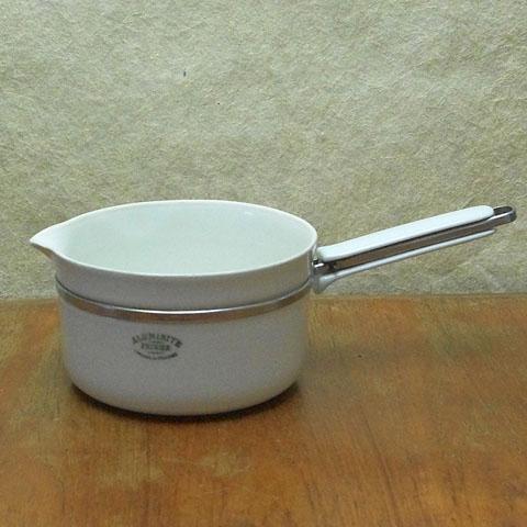 フランスブロカント Aluminite  磁器片手鍋(16.5cm)