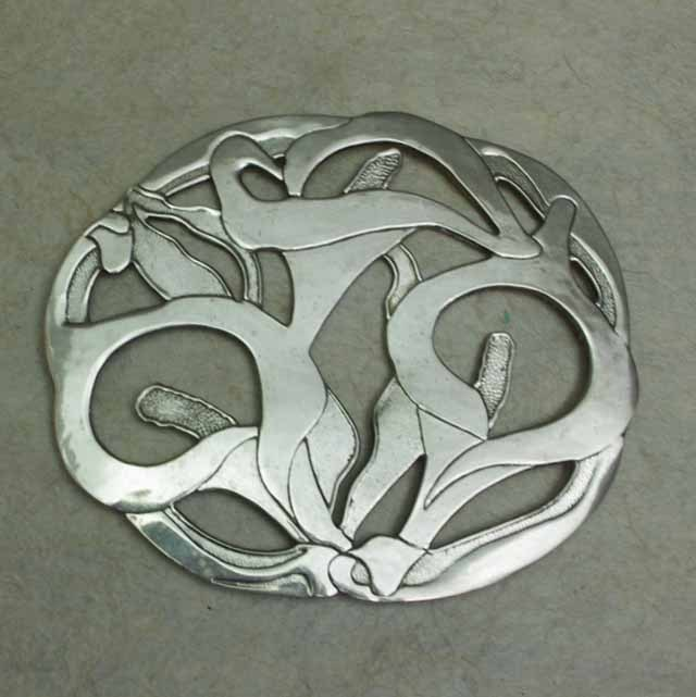 フランスブロカント  鍋敷き(花)