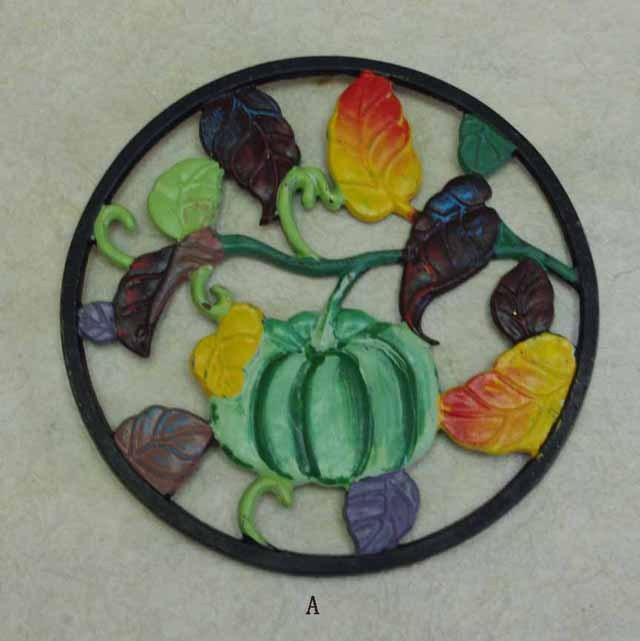 フランスブロカント アイアン 鍋敷き(カボチャ)