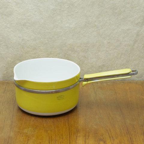 フランスブロカント Aluminite  磁器片手鍋(16cm)