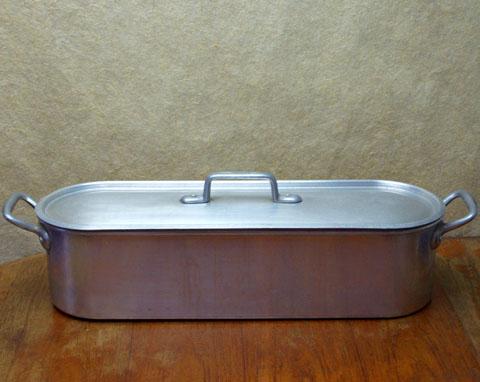 フランスブロカント  魚料理用鍋 大型ポワソニエール(アルミ製)