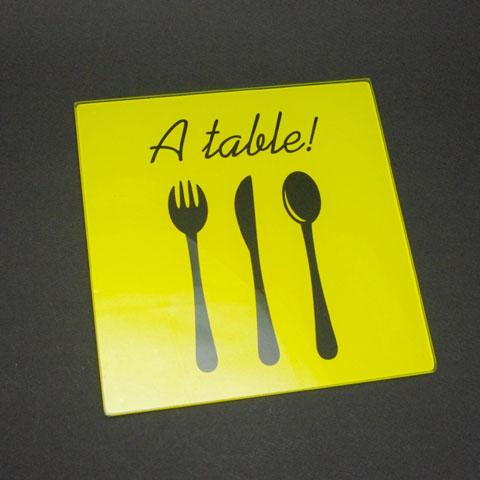 フランスブロカント  鍋敷き 《a table》