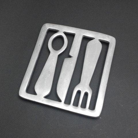 フランスブロカント  鍋敷き (カトラリー)